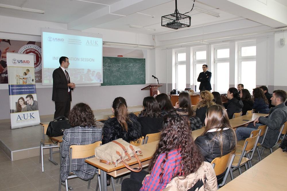 U prezantua programi përgatitor për studime master në USA