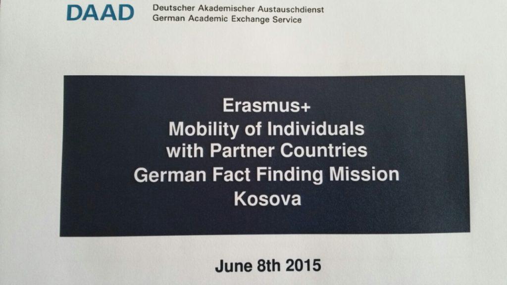 Shërbimi Gjerman për Shkëmbim Akademik (DAAD), organizoi një takim mes perfaqësuesve të DAAD-së, Universiteteve publike në Kosovë dhe Universiteteve Gjermane