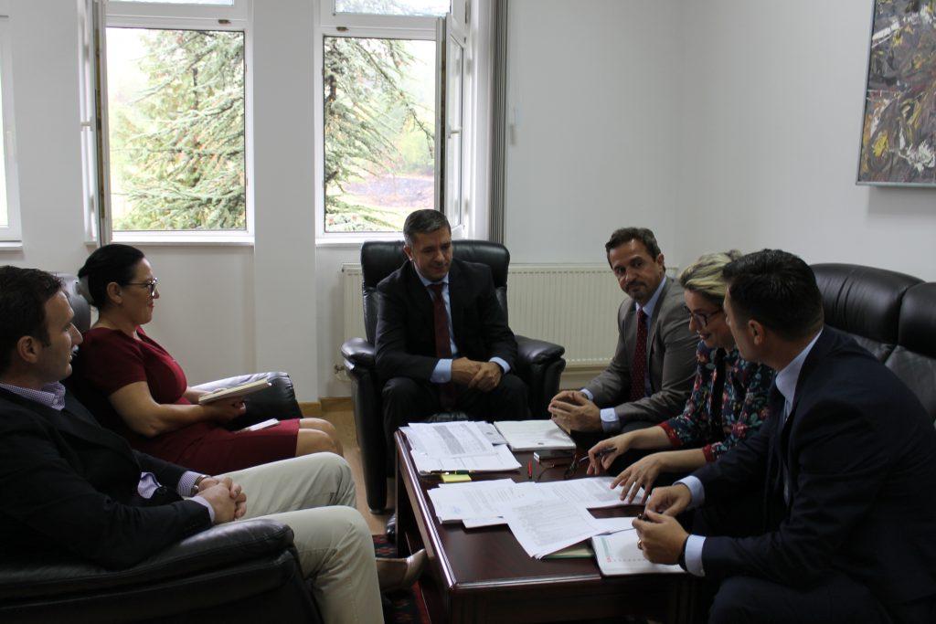 Përfaqësues të Qendrës Rajonale të Mjedisit për Evropën Qendrore dhe Juglindore vizituan UHZ-në