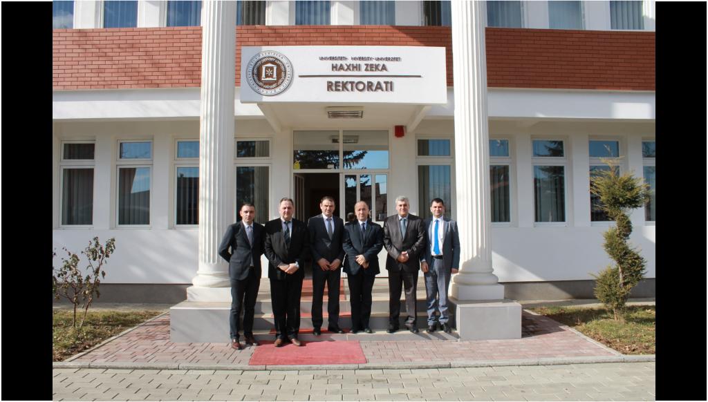 Rektori Millaku priti sot Kryetarin e Pejës me bashkëpunëtorë