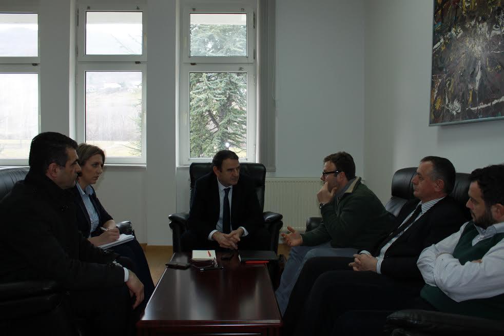 Rektori Millaku priti sot përfaqësues të projektit për bashkëpunim rajonal për Ballkanin Përendimor