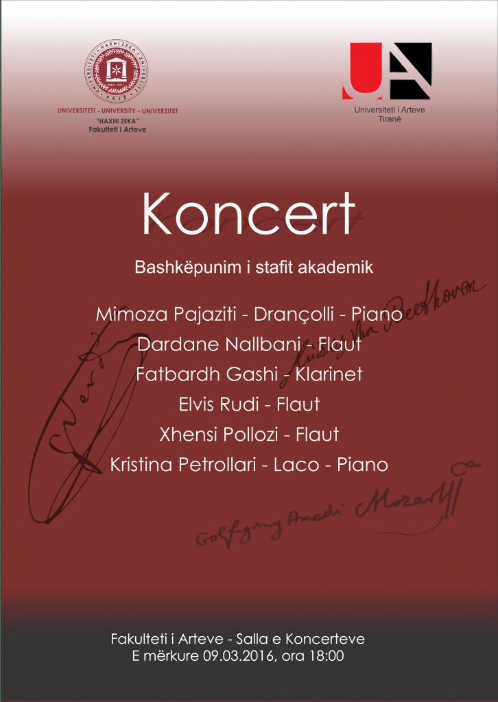Koncert bashkepunimi i stafit akademik