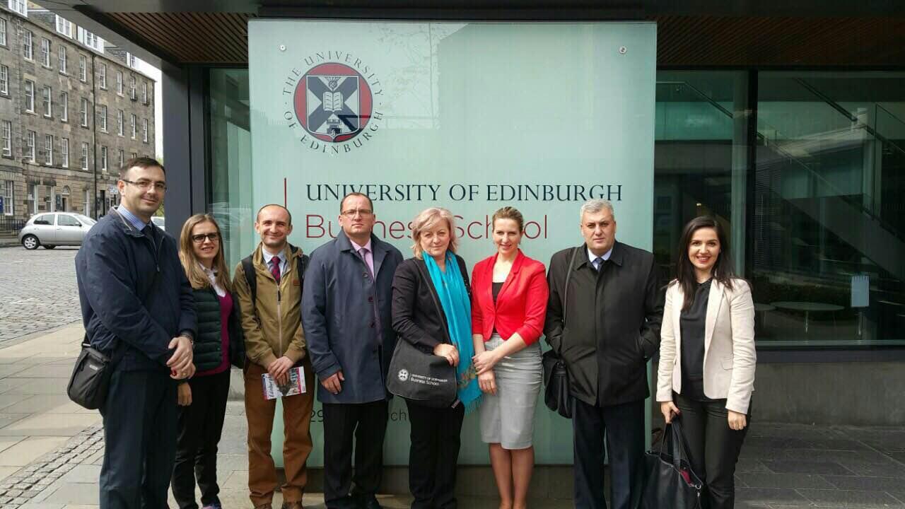Menaxhmenti i UHZ-së realizoj vizitë studimore në Edinburgh