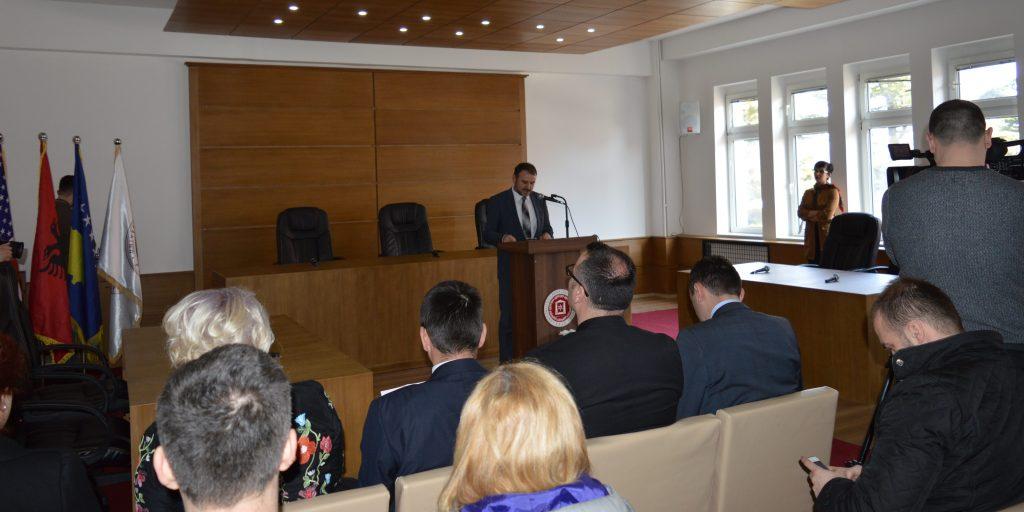 Ceremonia e përurimit të sallës së Gjykatores në Fakultetin Juridik