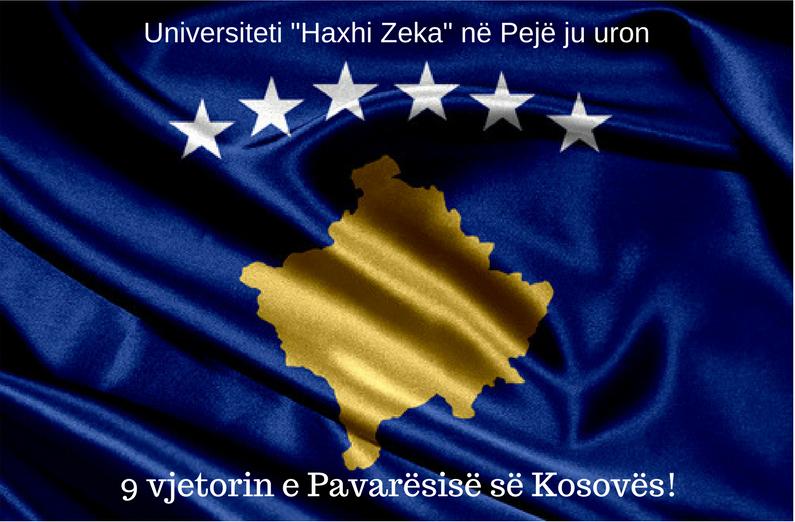 Gëzuar 9 vjetorin e Pavarësisë së Kosovës!