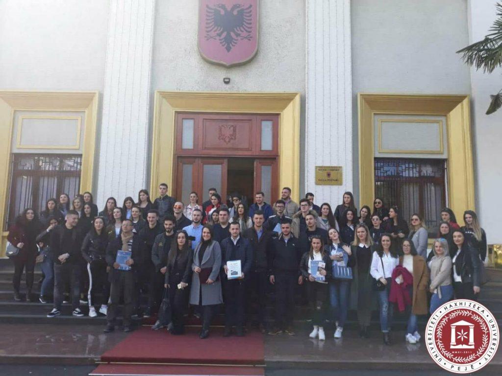 Vizitë Kuvendit të Republikës së Shqipërisë