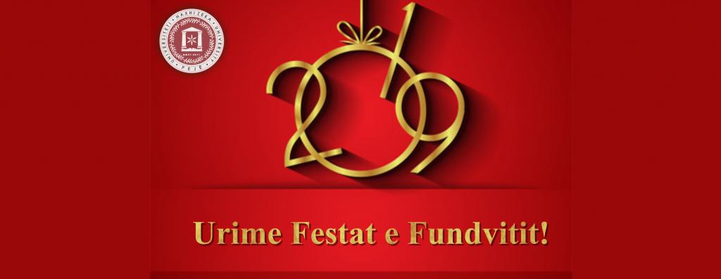 URIMI I REKTORIT PËR FESTAT E FUNDVITIT
