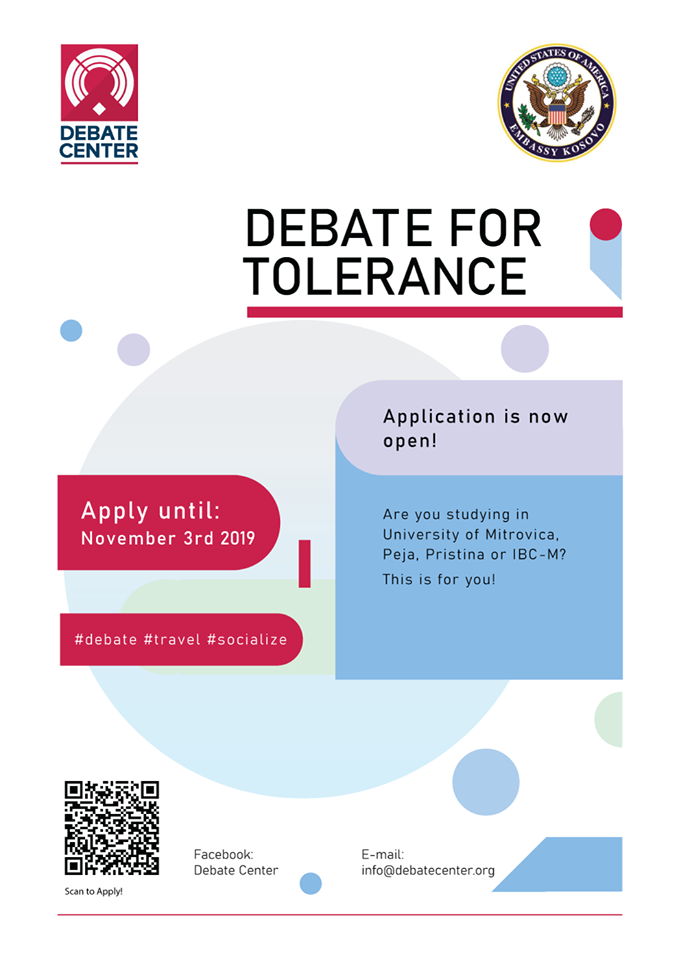 Application for Debate for Tolerance