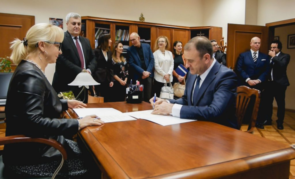 """Haxhi Zeka"" University in Peja signed a memorandum of cooperation with Opol University in Poland."