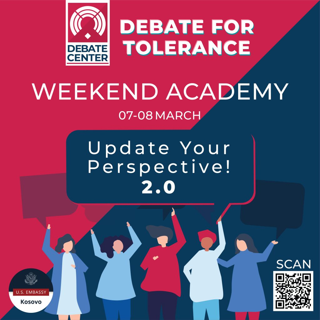Aplikoni për Weekend Academy – Debate for Tolerance