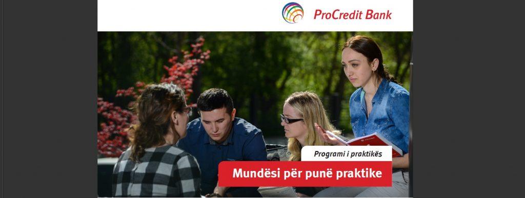 Konkurs për punë praktike në Bankën ProCredit