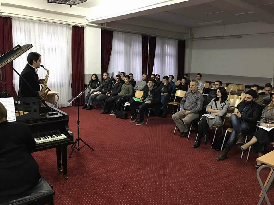 Master class e organizuar nga Fakulteti i arteve