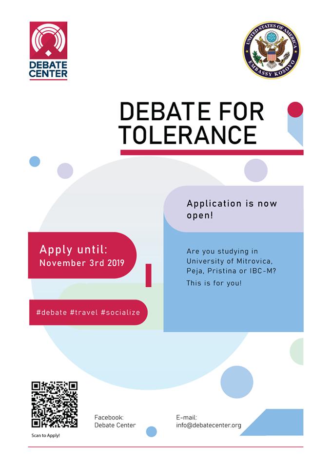Application for Debate for Tolerance