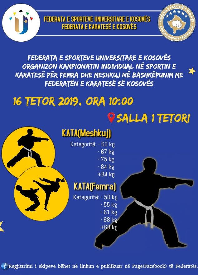 Ftesë për pjesëmarrje në kampionatin e Karatesë