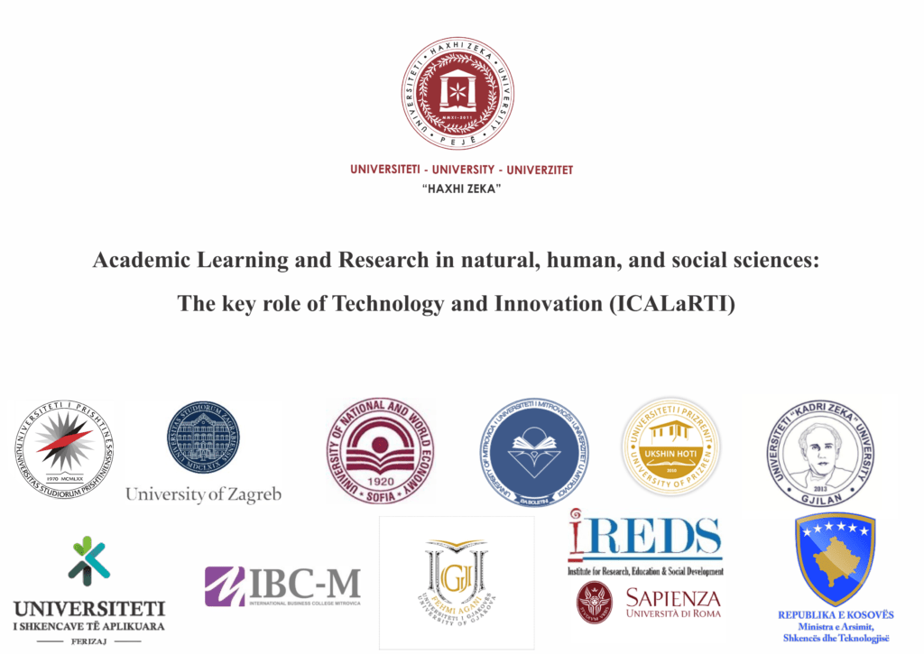 International Conference on Academic Learning and Research in natural, human, and social sciences: The key role of Technology and Innovation ICALaRTI